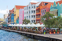 Willemstad, Curacao, Lesser Antilles.  Punda Side Architecture.