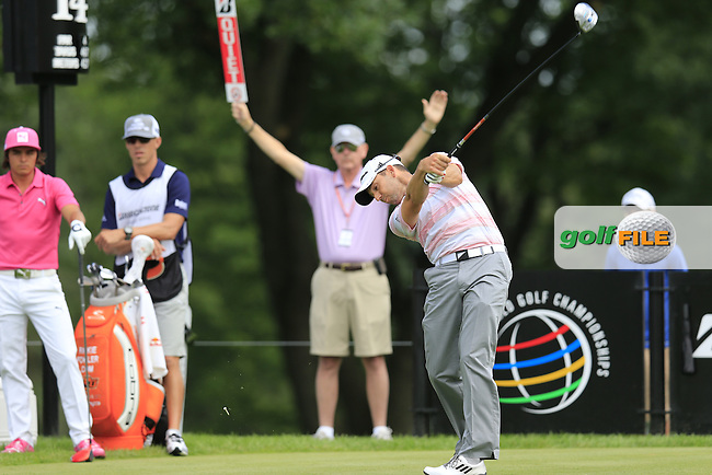 Sergio Garcia (ESP) tees off the 14th tee during Friday's Round 1 of the 2013 Bridgestone Invitational WGC tournament held at the Firestone Country Club, Akron, Ohio. 2nd August 2013.<br /> Picture: Eoin Clarke www.golffile.ie