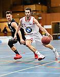 2018-02-18 / Basketbal / Seizoen 2017-2018 / Soba - Ieper / Rong&eacute; (Soba) passeert Spaens<br /> <br /> ,Foto: Mpics.be