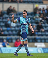 Max Muller of Wycombe Wanderers gives a thumb up  during the Sky Bet League 2 match between Wycombe Wanderers and Crawley Town at Adams Park, High Wycombe, England on 25 February 2017. Photo by Andy Rowland / PRiME Media Images.