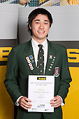 Badminton Boys winner Evan Lee from Westlake Boys High School.  ASB College Sport Young Sportsperson of the Year Awards held at Eden Park, Auckland, on November 11th 2010.