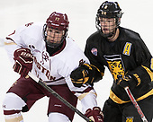 David Cotton (BC - 17), Luc Gerdes (CC - 8) - The Boston College Eagles defeated the visiting Colorado College Tigers 4-1 on Friday, October 21, 2016, at Kelley Rink in Conte Forum in Chestnut Hill, Massachusetts.The Boston College Eagles defeated the visiting Colorado College Tiger 4-1 on Friday, October 21, 2016, at Kelley Rink in Conte Forum in Chestnut Hill, Massachusett.