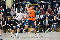 Lukas Nold (Erfelden) gegen Christian Podel (Crumstadt/Goddelau) - 12.03.2017: ESG Crumstadt/Goddelau vs. ESG Erfelden, Sporthalle Martin-Niemöller Schule