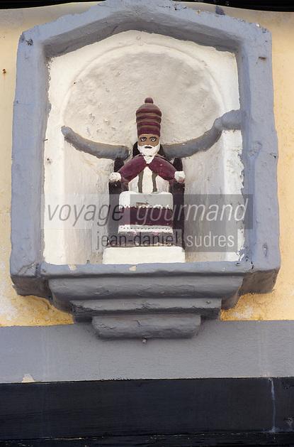 Europe/Espagne/Baléares/Minorque/Ciutadella : Détail oratoire d'une maison