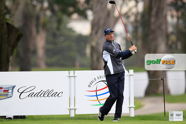 Jim Furyk (USA) during the Pro-Am at TPC Harding Park, 99 Harding Road, San Francisco, CA 94132, United States. 28/04/2015<br /> Picture Fran Caffrey, www.golffile.ie