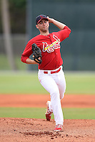 St. Louis Cardinals pitcher Jimmy Reed (16) during a minor league spring training intrasquad game on March 28, 2014 at the Roger Dean Stadium Complex in Jupiter, Florida.  (Mike Janes/Four Seam Images)