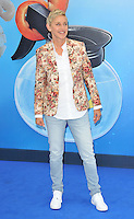 Ellen DeGeneres at the &quot;Finding Dory&quot; UK film premiere, Odeon Leicester Square cinema, Leicester Square, London, England, UK, on Sunday 10 July 2016.<br /> CAP/CAN<br /> &copy;CAN/Capital Pictures ***USA and South America Only**