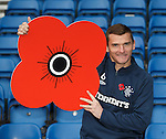 Lee McCulloch with poppy for remembrance ahead of Saturday's match where 400 members of the armed forces are invited to Ibrox along with veterans from Erskine