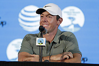 Rory McIlroy (NIR) press conference during Wednesday's Pracitce Day of the 2018 AT&amp;T Pebble Beach Pro-Am, held over 3 courses Pebble Beach, Spyglass Hill and Monterey, California, USA. 7th February 2018.<br /> Picture: Eoin Clarke | Golffile<br /> <br /> <br /> All photos usage must carry mandatory copyright credit (&copy; Golffile | Eoin Clarke)