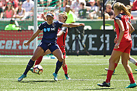 Portland, OR - Saturday July 15, 2017: Lynn Williams during a regular season National Women's Soccer League (NWSL) match between the Portland Thorns FC and the North Carolina Courage at Providence Park.