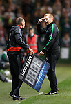 Neil Lennon had a go at the fourth official