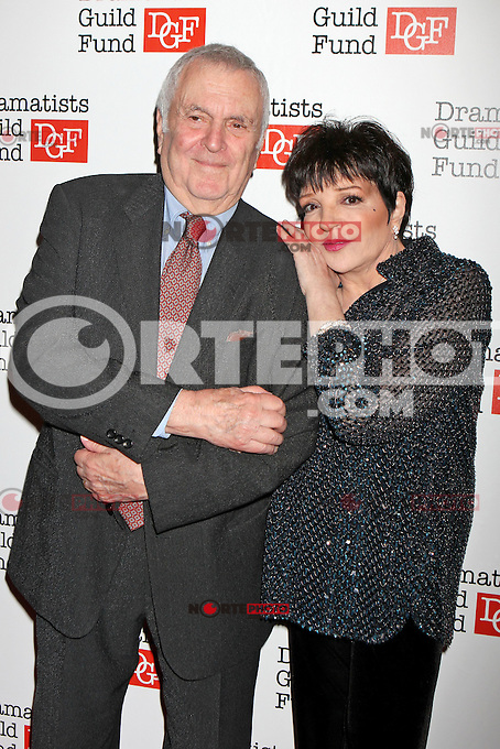 John Kander and Liza Minnelli attend The Dramatists Guild Fun's 50th Anniversary Gala at the Mandarin Oriental in New York, 03.06.2012...Credit: Rolf Mueller/face to face /MediaPunch Inc. ***FOR USA ONLY***