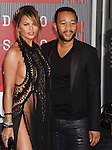 LOS ANGELES, CA - AUGUST 30: Model Chrissy Teigen and singer John Legend arrive at the 2015 MTV Video Music Awards at Microsoft Theater on August 30, 2015 in Los Angeles, California.
