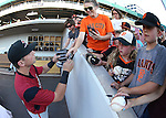 Sacramento River Cats&rsquo; Joe Panik signs autographs before a game against the Reno Aces at Greater Nevada Field in Reno, Nev., on Tuesday, July 26, 2016.  <br />Photo by Cathleen Allison