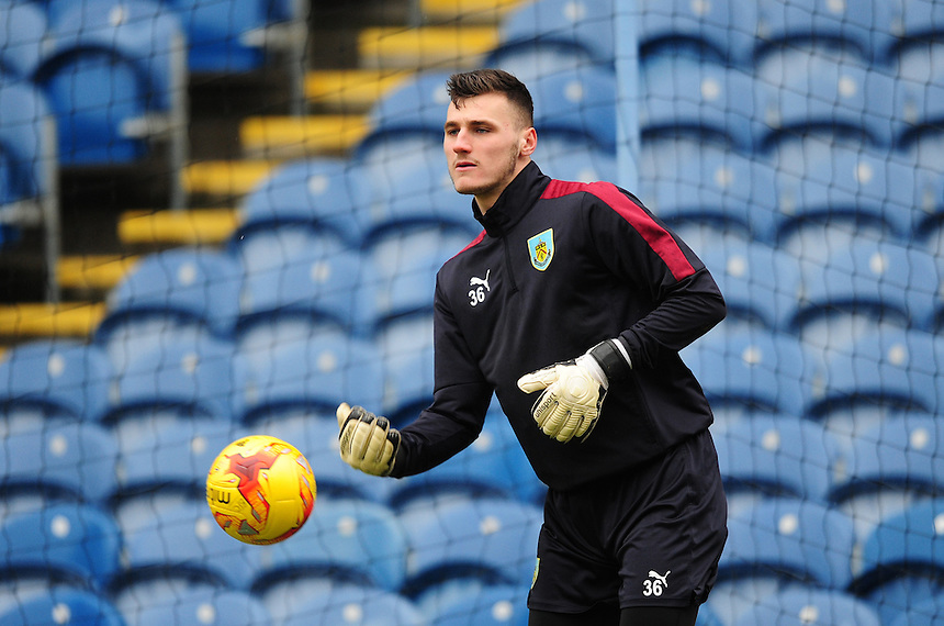 Burnley's Conor Mitchell during the pre-match warm-up <br /> <br /> Photographer Chris Vaughan/CameraSport<br /> <br /> Football - The Football League Sky Bet Championship - Burnley v Hull City - Saturday 6th February 2016 - Turf Moor - Burnley <br /> <br /> &copy; CameraSport - 43 Linden Ave. Countesthorpe. Leicester. England. LE8 5PG - Tel: +44 (0) 116 277 4147 - admin@camerasport.com - www.camerasport.com