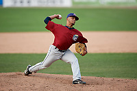 Mahoning Valley Scrappers relief pitcher Francisco Lopez (37) delivers a pitch during the second game of a doubleheader against the Batavia Muckdogs on September 4, 2017 at Dwyer Stadium in Batavia, New York.  Mahoning Valley defeated Batavia 6-2.  (Mike Janes/Four Seam Images)