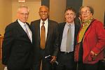 Jeremy Travis, Harry Belafonte, Thomas J. Dart, and Marian Wright Edelman pose at the John Jay Justice Award ceremony, April 5 2011.