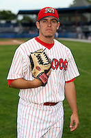 Sept. 5th, 2007:  Justin Fiske of the Batavia Muckdogs, Short-Season Class-A affiliate of the St. Louis Cardinals at Dwyer Stadium in Batavia, NY.  Photo by:  Mike Janes/Four Seam Images