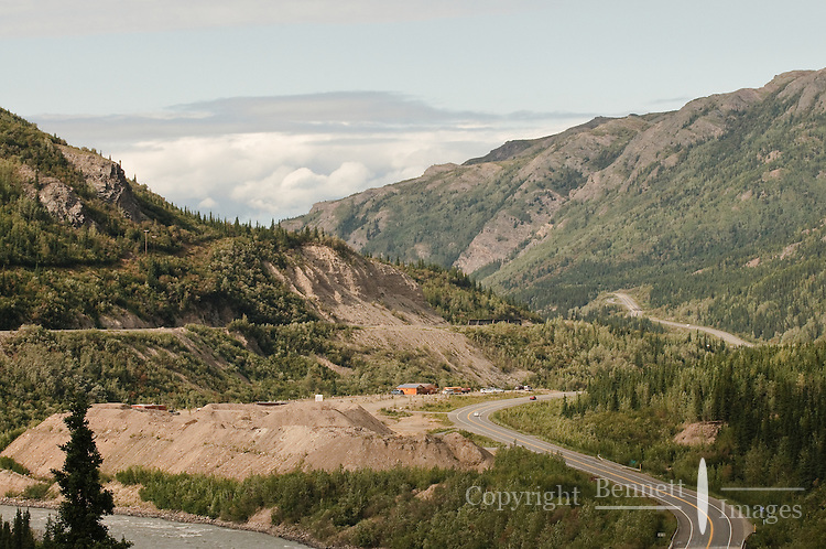 A view of the Parks Highway heading north out of Denali.