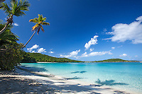 Gibney Beach looking out on Hawksnest Bay<br /> Virgin Islands National Park<br /> St. John<br /> U.S. Virgin Islands