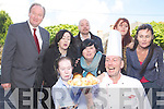 Getting ready for the food trail which takes place in the Square, Tralee on Culture Night  on the 21st September, from left: Trish O'Connor (artist), Natasha Rice (Fishworks), Caitriona Fallon (Siamsa Tire), Karl Wallace (Siamsa Tire) Rebecka Wall (Babytag) Chef de partie? Stephen Harrison (Fishworks), Jin Finux=cane (KCC) and Roisin McGuigan (Artist).