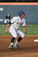 Timmy Richards (13) of the Cal State Fullerton Titans runs the bases during a game against the University of San Diego Toreros at Goodwin Field on April 5, 2016 in Fullerton, California. Cal State Fullerton defeated University of San Diego, 4-2. (Larry Goren/Four Seam Images)