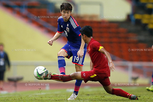 Yuta Toyokawa (JPN), MARCH 29, 2015 - Football / Soccer : AFC U-23 Championship 2016 Qualification Group I match between U-22 Japan 2-0 U-22 Vietnam at Shah Alam Stadium in Shah Alam, Malaysia. (Photo by Sho Tamura/AFLO SPORT)