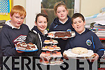Pupils from Knockaderry National School pictured taking part in the Farranfore Bakers Project for the Junior Entrepreneur Programme on Friday, from left: Tomas Curtin, Aine Barry, Rachel Coyne and James OConnor..