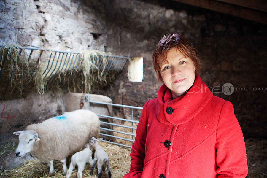 Actress Mary Mc Evoy is pictured on her farm in County Meath.Picture James Horan/Collins Photos<br /> <br /> www.collinsprphotos.com