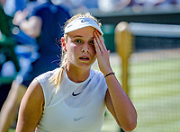London, England, 5 th July, 2017, Tennis,  Wimbledon,   Donna Vekic (CRO) reacts in her match against Johanna Konta (GBR)<br /> Photo: Henk Koster/tennisimages.com