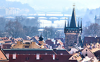 Views over the rooftops of Prague and the Vitava River, Prague, Czech Republic on February 28th to March 3rd 2018<br /> CAP/ROS<br /> &copy;ROS/Capital Pictures