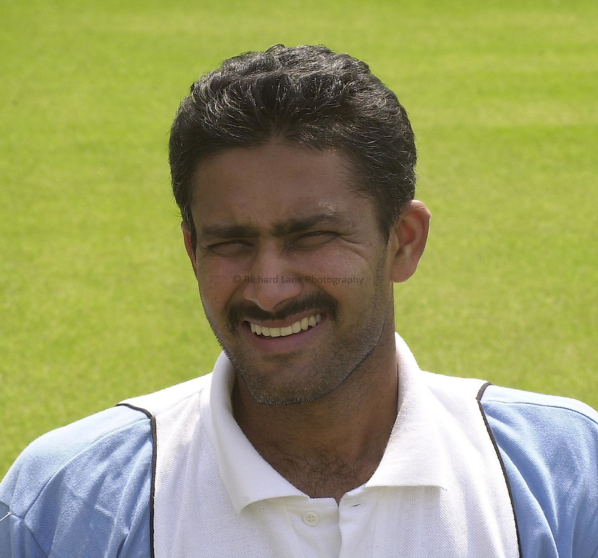 Photo Peter Spurrier.20/06/2002.India Press Day at Lords..Anil Kumble