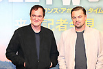 "Quentin Tarantino and Leonardo DiCaprio attends the press conference for their movie ""Once Upon a Time in Hollywood"" in Tokyo, Japan on August 26, 2019.  The film will be released in Japan on August 30.   (Photo by AFLO)"