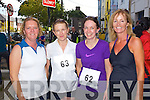 Pictured at the Enable Ireland 5k run at the Brandon on Saturday, from left: Orla Bowen, Carrigaline, Suzanne Twomey, Glanmire, Brid Murphy, Castleisland, Anna O'Brien, Cork.