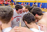 WATERBURY, CT. 14 March 2018-031418BS647 - Zack Penn (25) from Northwestern calls a team huddle right before going to the locker room at the end of the first half in their Div IV semi-finals at Kennedy High School on Wednesday evening. Kolbe went on to defeat Northwestern and advanced to the finals at Mohegan Sun. Bill Shettle Republican-American