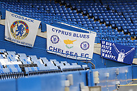 New banner on display at Stamford Bridge, If Big Pete's Happy, I'm Happy during Chelsea vs Sheffield United, Premier League Football at Stamford Bridge on 31st August 2019