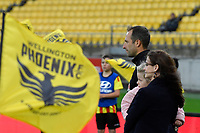 Wellington Phoenix&rsquo; Andrew Durante 250th games during the A-League - Wellington Phoenix v Western Sydney Wanderers at Westpac Stadium, Wellington, New Zealand on Saturday 3 November  2018. <br /> Photo by Masanori Udagawa. <br /> www.photowellington.photoshelter.com