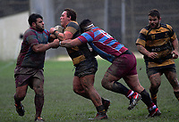 Action from the Hardham Cup Wellington club rugby match between Wellington Axemen and Avalon at the Hataitai Park in Wellington, New Zealand on Saturday, 27 May 2017. Photo: Dave Lintott / lintottphoto.co.nz