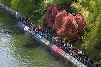 Spectators along Mountlake Cut, Windermere Cup 2017, Seattle, WA, USA.