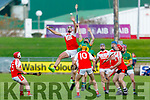 Action from Kenmare/Kilgarvan/Dr Crokes v Lixnaw in the U21 County Hurling final in Austin Stack Park on Monday.