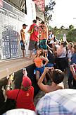 USA, Hawaii, Waimea Bay, people photographing Kelly Slater at the Eddie Aikau awards ceremony
