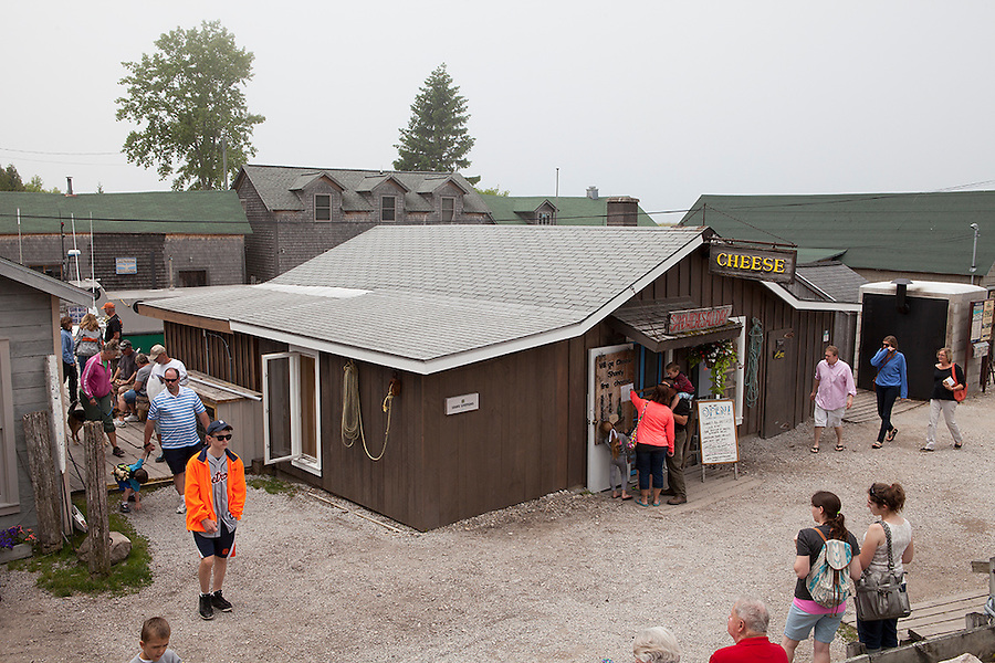 A popular tourist destination, the fishing village in the Leland Historic District (Fishtown), is one of the oldest of its kind in America, Leland, Michigan, USA