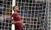 Calcio, Serie A: Roma vs Cagliari, Roma, stadio Olimpico, 22 gennaio 2017.<br /> Roma's Bruno Peres reacts during the Italian Serie A football match between Roma and Cagliari at Rome's Olympic stadium, 22 January 2017. <br /> UPDATE IMAGES PRESS/Isabella Bonotto
