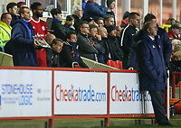 Blackpool manager Gary Bowyer sits in the stands<br /> <br /> Photographer Alex Dodd/CameraSport<br /> <br /> EFL Checkatrade Trophy - Northern Section Group B - Accrington Stanley v Blackpool - Tuesday 3rd October 2017 - Crown Ground - Accrington<br />  <br /> World Copyright &copy; 2018 CameraSport. All rights reserved. 43 Linden Ave. Countesthorpe. Leicester. England. LE8 5PG - Tel: +44 (0) 116 277 4147 - admin@camerasport.com - www.camerasport.com
