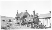 RGS 2-8-0 #74 at Ridgway depot.<br /> RGS  Ridgway, CO