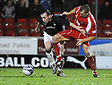 10/01/2009  Copyright Pic: James Stewart.File Name : sct_jspa37_falkirk_v_qots.MARK STEWART HOLDS OFF MARTYN LANCASTER.James Stewart Photo Agency 19 Carronlea Drive, Falkirk. FK2 8DN      Vat Reg No. 607 6932 25.Studio      : +44 (0)1324 611191 .Mobile      : +44 (0)7721 416997.E-mail  :  jim@jspa.co.uk.If you require further information then contact Jim Stewart on any of the numbers above.........
