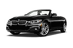 Stock pictures of low aggressive front three quarter view of 2016 BMW 4 Series 428I 2 Door Convertible Low Aggressive