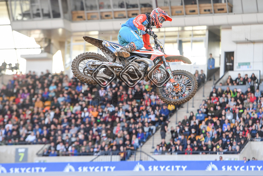 Ryan Marmont (AUS)<br /> 2018 SX Open - Auckland / SX 2<br /> FIM Oceania Supercross Championships<br /> Mt Smart Stadium / Auckland NZ<br /> Saturday Nov 24th 2018<br /> &copy; Sport the library/ Jeff Crow / AME