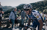 double Lombardia winner Philippe Gilbert (BEL/Quick Step floors) up the infamous Muro di Sormano (avg 17%/max 25%)<br /> <br /> Il Lombardia 2017<br /> Bergamo to Como (ITA) 247km