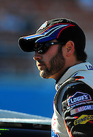 Apr 17, 2009; Avondale, AZ, USA; NASCAR Sprint Cup Series driver Jimmie Johnson during qualifying for the Subway Fresh Fit 500 at Phoenix International Raceway. Mandatory Credit: Mark J. Rebilas-